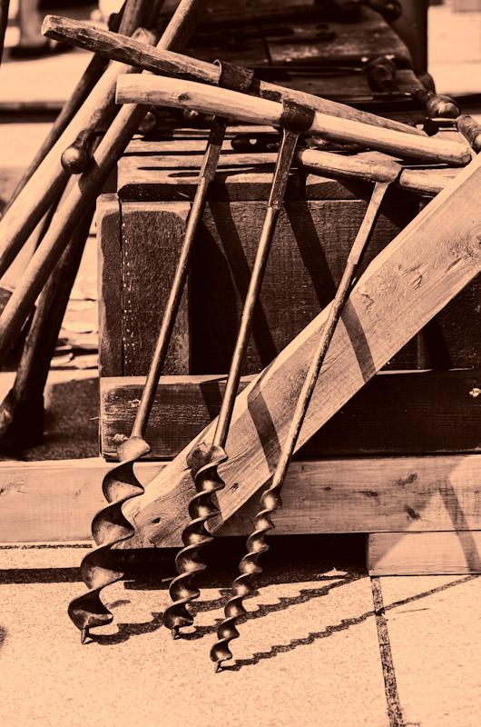 Woodworking tools at Le Marché Public de Pointe-à-Callière