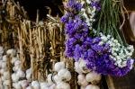 Garlic stall at Le Marché Public de Pointe-à-Callière