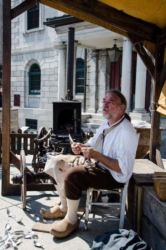 Spoon maker at Le Marché Public de Pointe-à-Callière
