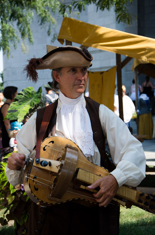 Musician at Le Marché Public de Pointe-à-Callière