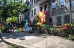 Tie dye sale on rue Saint Cuthbert