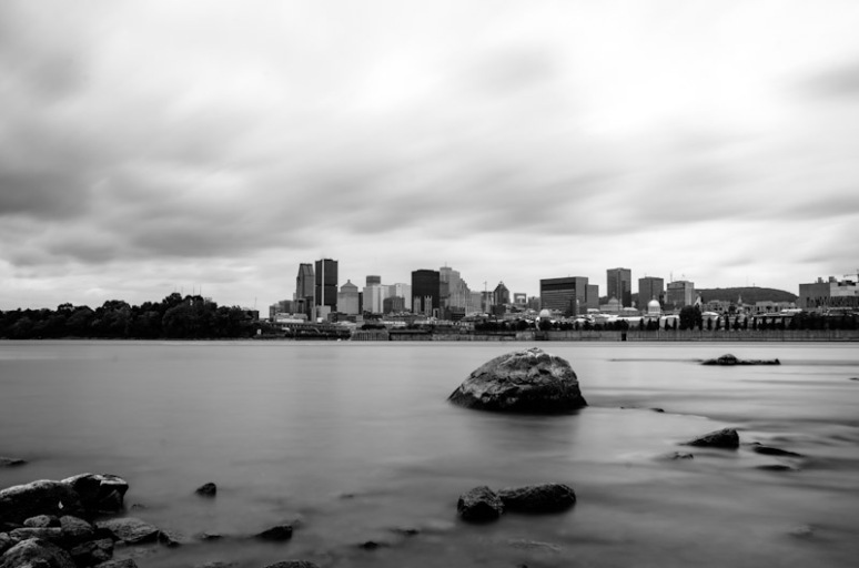 Montreal Skyline long exposure