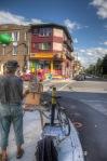 Local artist on Rachel street