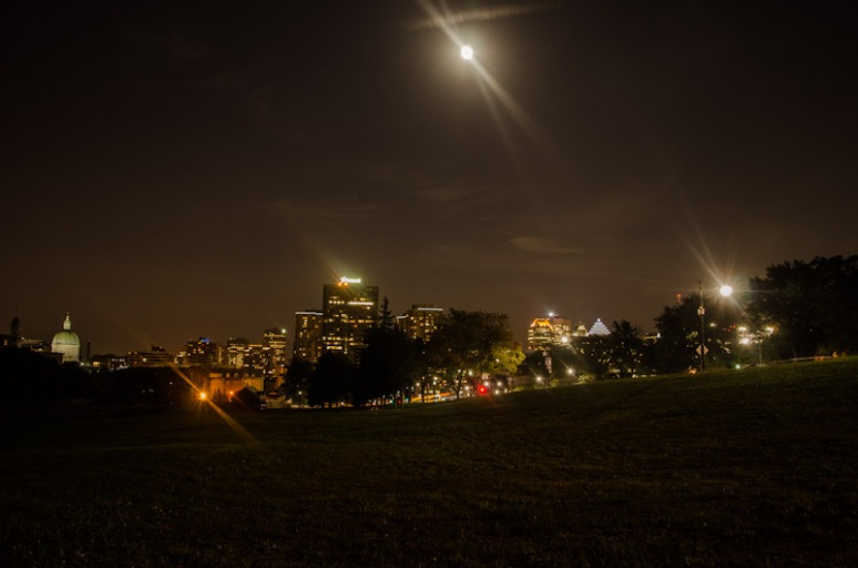 Moon over Montreal