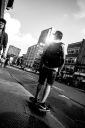 Skateboarder on avenue du Parc