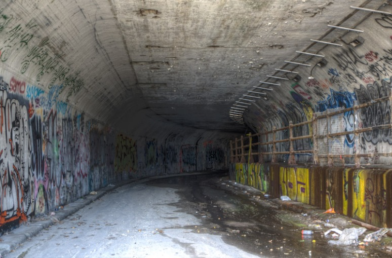 Inside West Wellington Tunnel