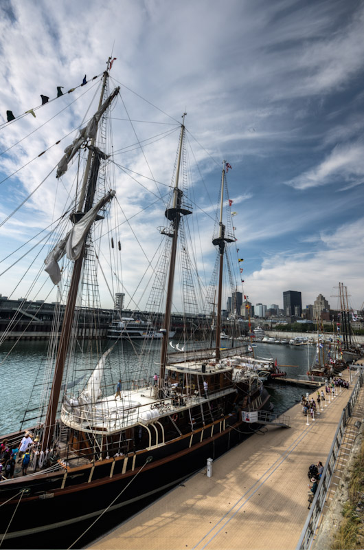 The Peacemaker Tall Ship in Montreal