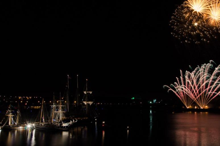Montreal Tall Ship Festival Firework display