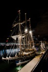 Montreal Tall Ship Festival at night
