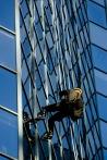 Abseiling down the BNP Paribas tower