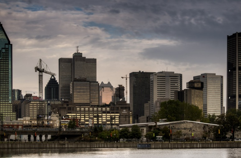 Montreal skyline from Bassins Peel