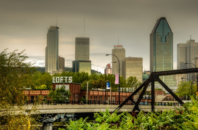 Montreal skyline from near Wellington Street