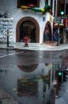 Bike store reflection on rue Rachel