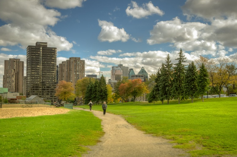 Montreal skyline from Parc Jeanne-Mance