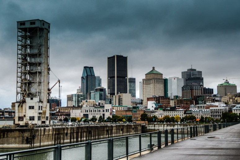 Montreal skyline with grain elevator