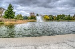 Fountain at Jarry Park Lake