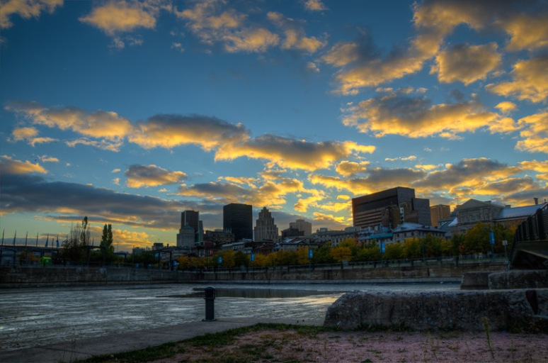 Montreal Skyline at sunset
