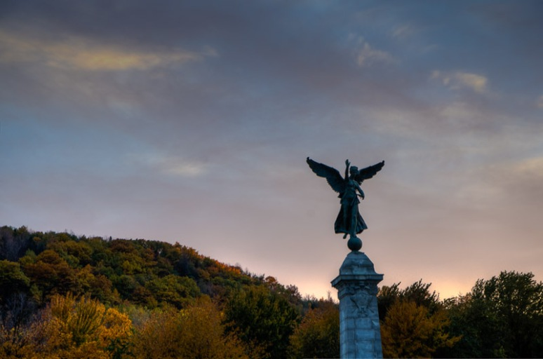 George Étienne Cartier Monument at sunset