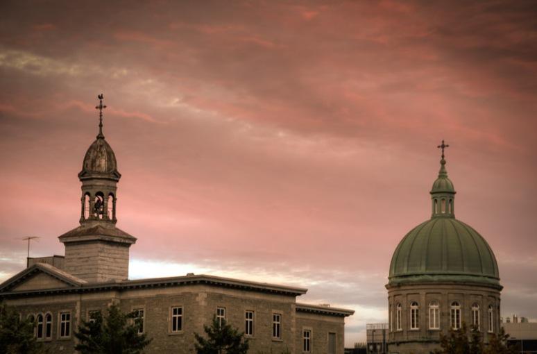 Pink sky over religieuses hospitaliers de st joseph