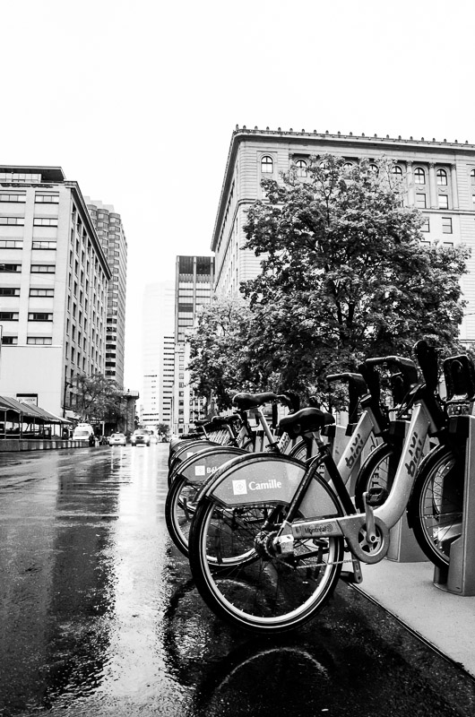 Bixi's in the rain