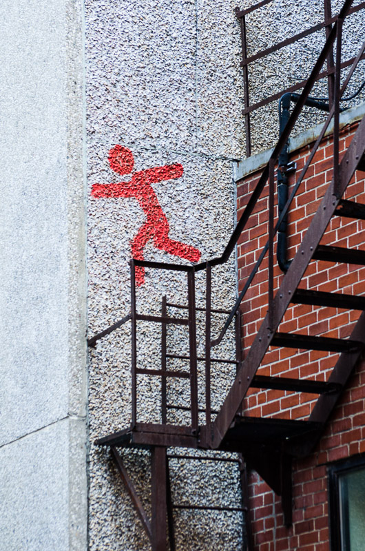 Jumping stick man