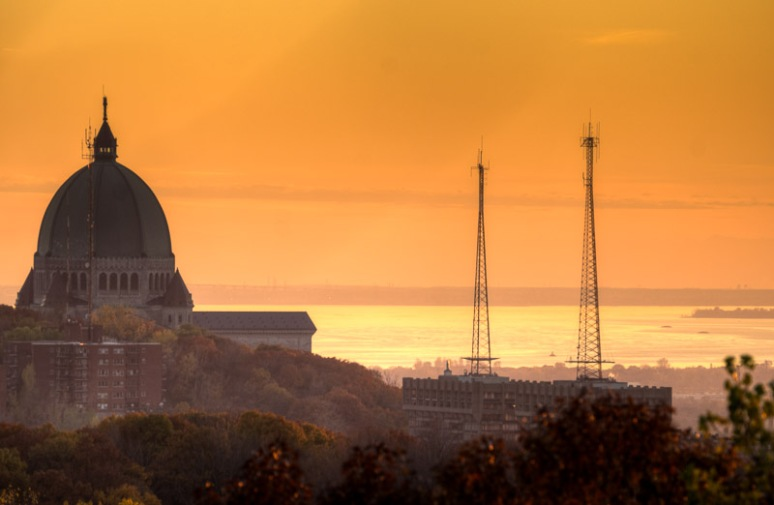 Saint Joseph's Oratory at sunset