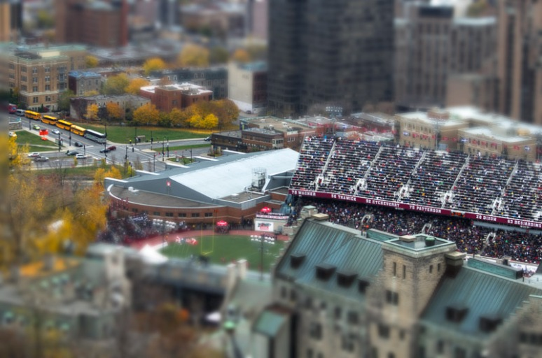 The Percival Molson Stadium in miniature