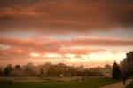 Sunset on avenue du Parc
