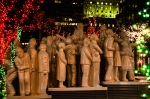 The Illuminated Crowd at night