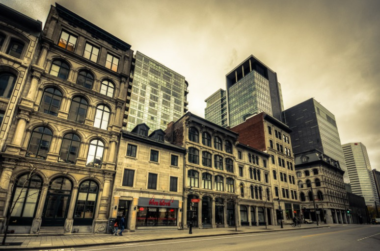 Old meets new on rue McGill