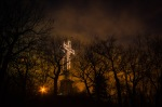 Mount Royal Cross at night