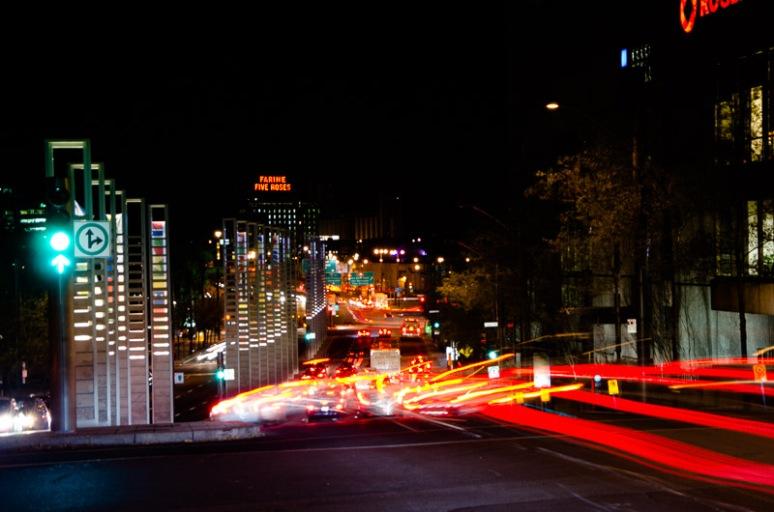 Evening rush hour on rue University