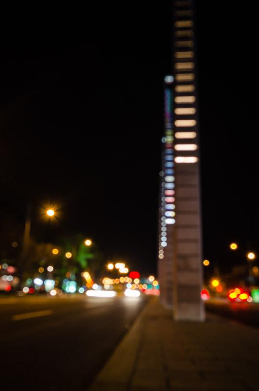 Rue University central pillars