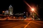 rue Iniversity at night
