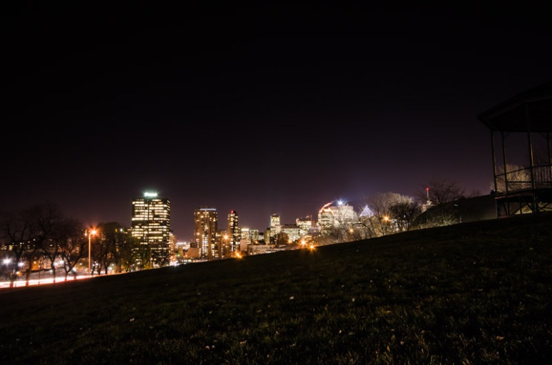 Montreal Skyline from ave du Parc
