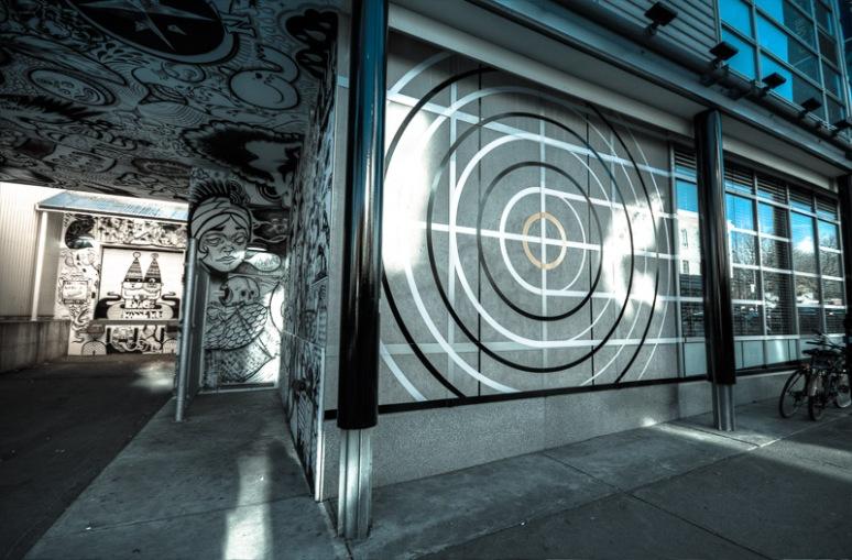 Quai des Arts mural at Théâtre Espace Go