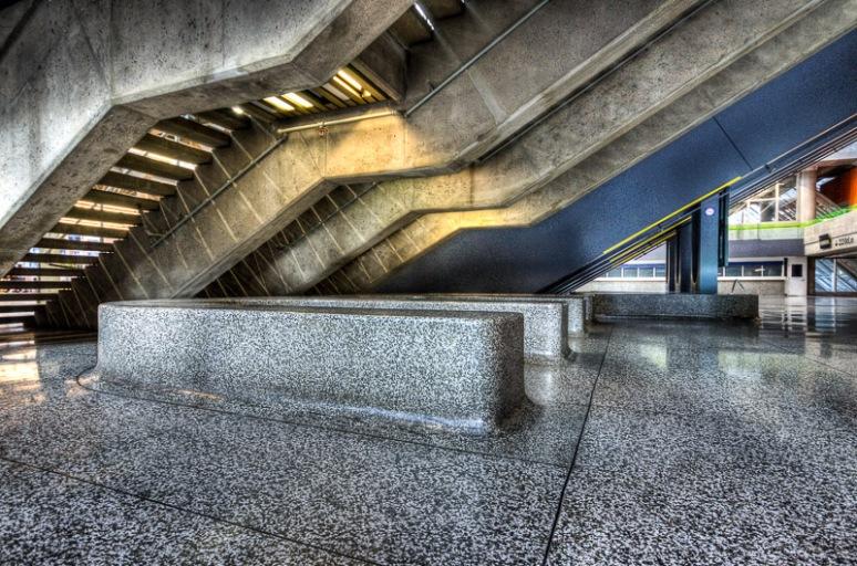 Staircase at the Palais des Congrès