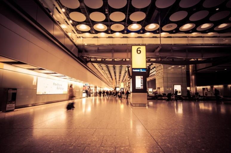Terminal 5 baggage hall Heathrow