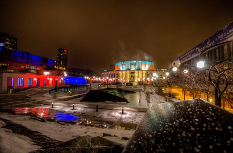 Place des Arts in color