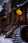 Stairs under snow