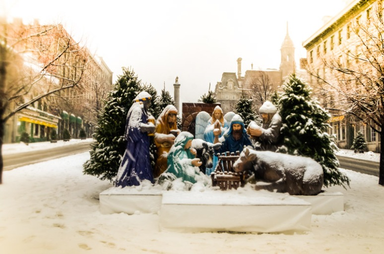 Crèche at Place Jacques Cartier