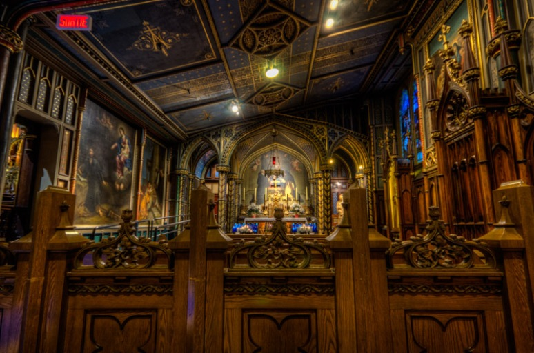 Inside Notre Dame Basilica
