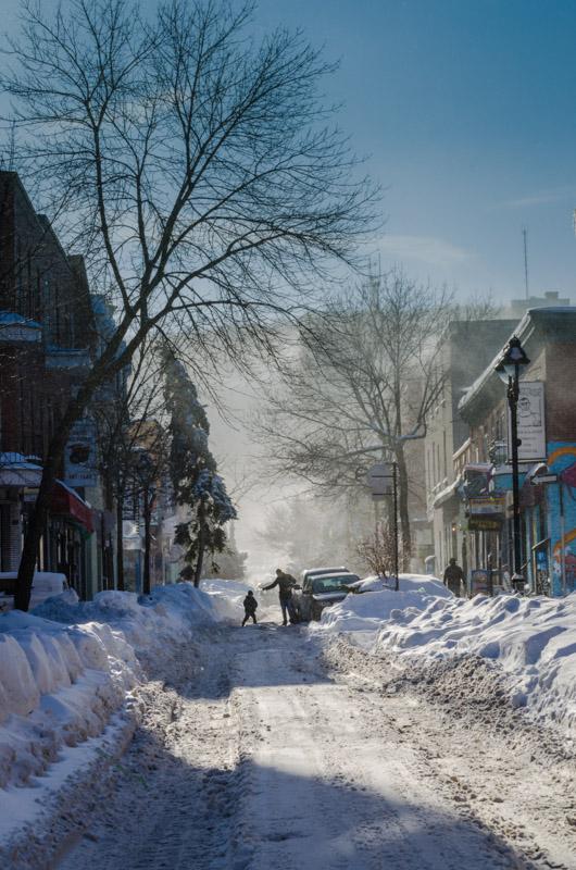 Le Plateau under snow