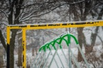 Playground in the snow