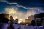 Montreal skyline bathed in light
